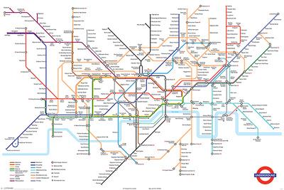 London Underground Map Print