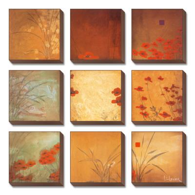 Poppy Nine Patch Canvas Set by Don Li-Leger