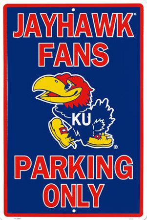 Kansas University Tin Sign