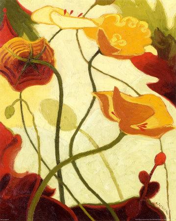 Tres Vignes III Art by Shirley Novak