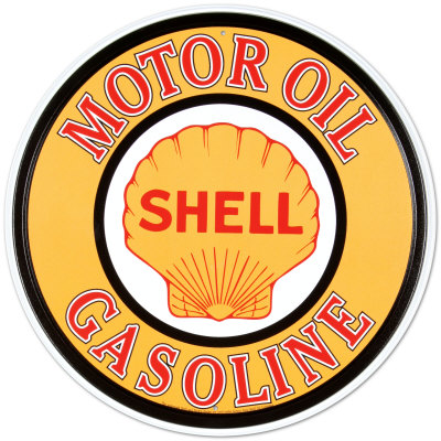 Shell Gas & Oil Emaille bord