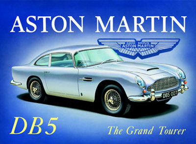 Aston Martin DB5 Cartel de chapa