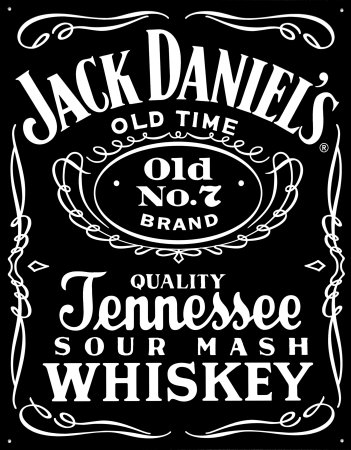 Jack Daniel's Black Label Pltskylt