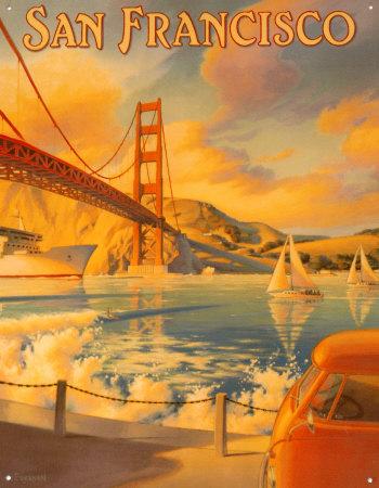 Golden Gate Bridge Tin Sign