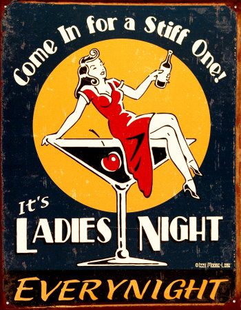 Ladies Night Plechová cedule