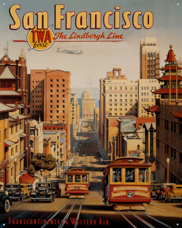 San Francisco Tin Sign by Kerne Erickson