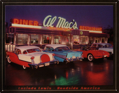 Al Mac's Diner Tin Sign by Lucinda Lewis