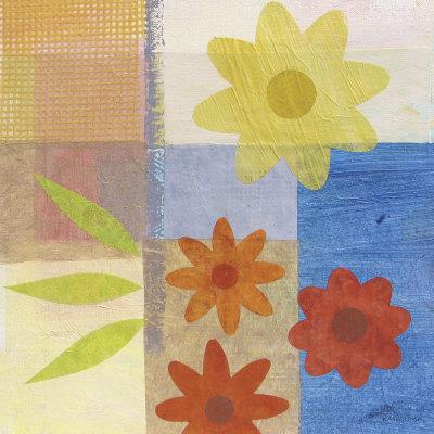 Brown Pattern Flower Prints by Gale Kaseguma