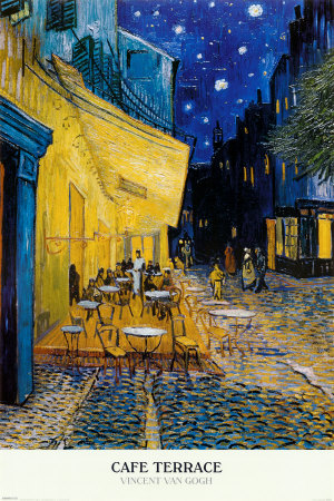 Cafe Terrace, Place du Forum, Arles, 1888 Posters by Vincent van Gogh
