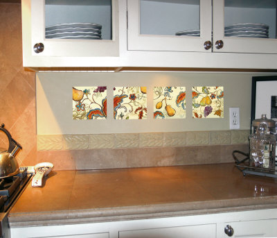 Paisley Fruit Squares Autocollant mural