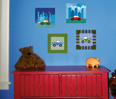 City Cars and Trucks Wall Decal