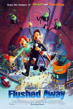 Flushed Away Double-sided poster