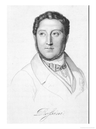 Gioacchino Rossini Italian Composer Premium Giclee Print by H. Bruyeres