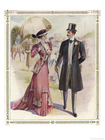 He: Frock Coat Top Hat Grey Trousers Cravat Buttonhole Giclee Print by A. Ferro