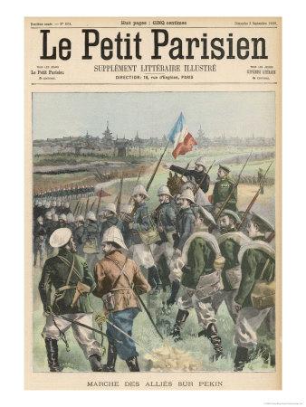 Boxer Rebellion the Allies Advance on Peking Giclee Print by  Carrey