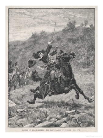 Jacobite Rising at Killiecrankie the Jacobites Defeat Mackay's Royalist Army Giclee Print by Stanley Berkeley