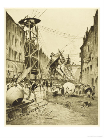 The War of the Worlds, after the Death of the Martian Invaders Londoners Examine Their Machines Premium Giclee Print by Henrique Alvim Corrêa