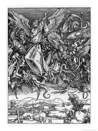 And There was War in Heaven Giclee Print by Albrecht Dürer at ...