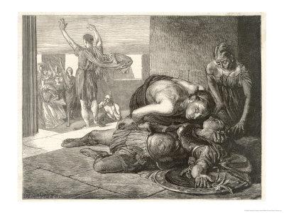 Battle of Marathon Giclee Print by Frederick George Cotman