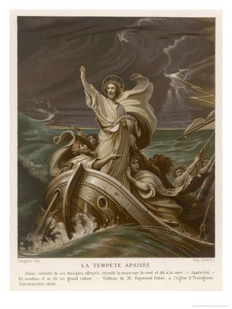He Calms a Storm on the Sea of Galilee Premium Giclee Print by Raymond Balze
