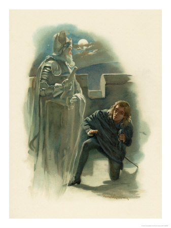 Hamlet Speaks with His Fathers Ghost