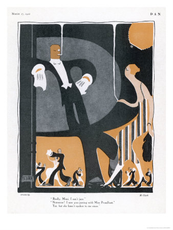 Jazzing in England Premium Giclee Print by H. Clark