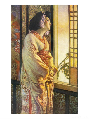 Blanche Bates in the Stage Play Madam Butterfly by Long and Belasco on Which the Opera is Based Premium Giclee Print by Sigismond De Ivanowski