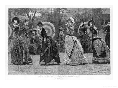 Ladies at an Archery Meeting Premium Giclee Print by Lucien Davis