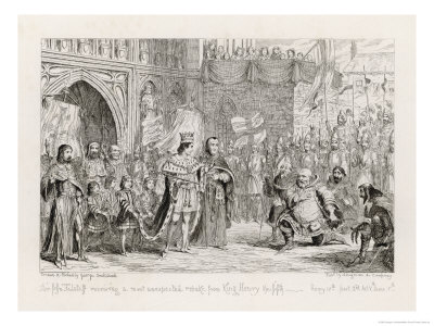 Henry IV, Act V Scene V: Sir John Falstaff Receiving a Most Unexpected Rebuke from King Henry V Giclee Print by George Cruikshank