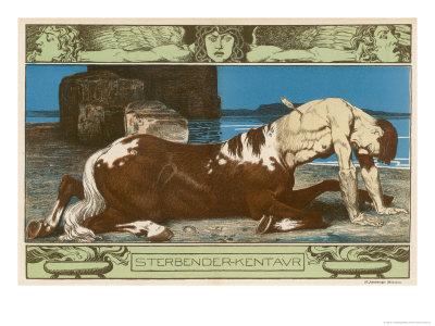 Centaur Dies Struck by a Hunter's Arrow Giclee Print by H. Anetsberger