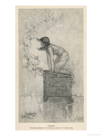 Hephaistos Created Pandora on Zeus's Orders to Bring Ruin to Mankind Premium Giclee Print by F.s. Church