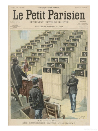 Prisoners in the Prison De Fresnesparis are Lectured on the Dangers of Alcoholism Giclee Print by  Crespin