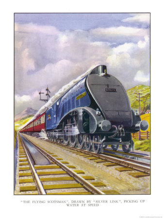 """The London and North Eastern Railway's """"Flying Scotsman"""" Express Premium Giclee Print by R.m. Clark"""