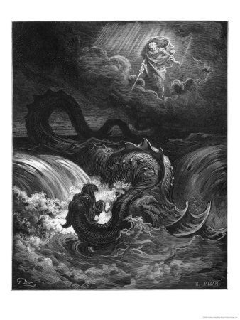 Leviathan Premium Giclee Print by Gustave Doré