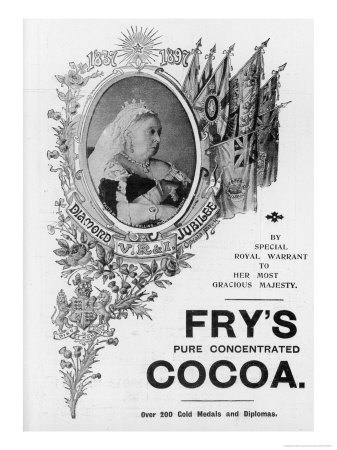 An Advertisement for Fry's Cocoa to Celebrate Queen Victoria's Diamond Jubilee Premium Giclee Print by Oswald Fitch