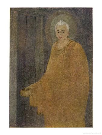 Buddha (Siddhartha) as a Mendicant Priest Premium Giclee Print by Abanindro Nath Tagore