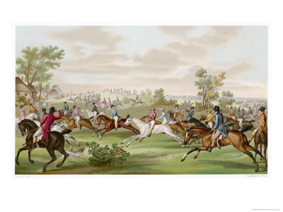 Horse Racing in France Premium Giclee Print by  Debucourt