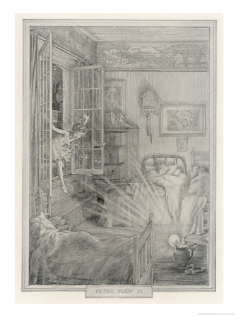 Peter Pan Flew In Premium Giclee Print by Francis Bedford