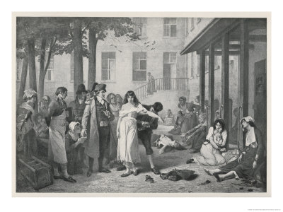 At la Salpetriere Paris Philippe Pinel Orders the Manacles Removed from the Mental Patients Premium Giclee Print by Tony Robert-fleury