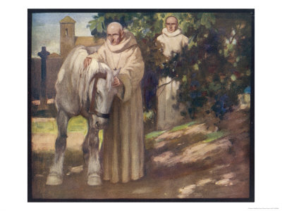 Irish Saint Exklusivt gicléetryck av Stephen Reid