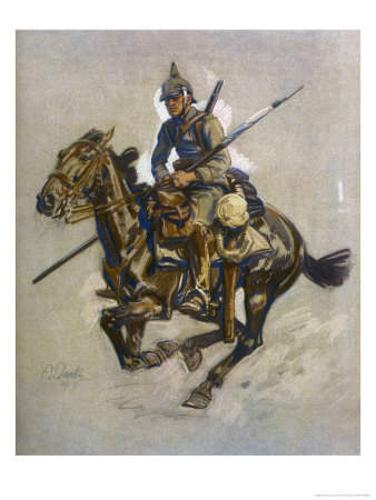 German Dispatch Rider Giclée-Druck