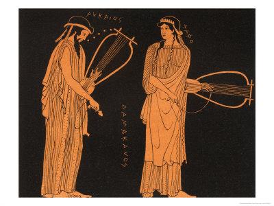 Alcaeus Greek Poet with Sappho Premium Giclee Print by Panofka Manners