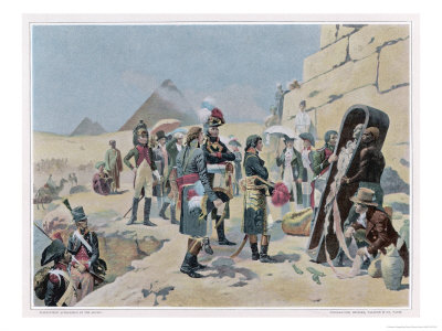 Egyptian Campaign Napoleon with the Savants Contemplates the Antiquities of Egypt Premium Giclee Print by Maurice Orange