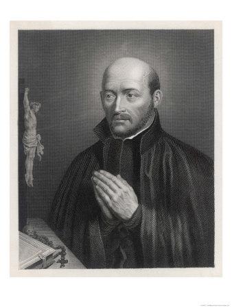 Ignatius Loyola Spanish Saint Founder of Society of Jesus (Jesuits) in an Attitude of Prayer Premium Giclee Print by C. Holl