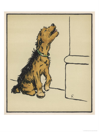 Dog in a Green Collar Premium Giclee Print by Cecil Aldin