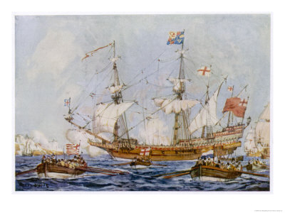 Built by Raleigh and Named the Ark Raleigh Purchased by Elizabeth and Renamed Ark Royal Premium Giclee Print by Cecil King