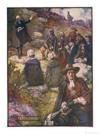 Scottish Presbyterians Worship in Defiance of Conventicle Acts Premium Giclee Print by J.r. Skelton