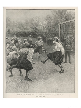The First Match of the British Ladies' Football Club reproduction procédé giclée