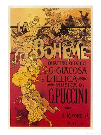Puccini, La Boheme Giclée-Premiumdruck von Adolfo Hohenstein