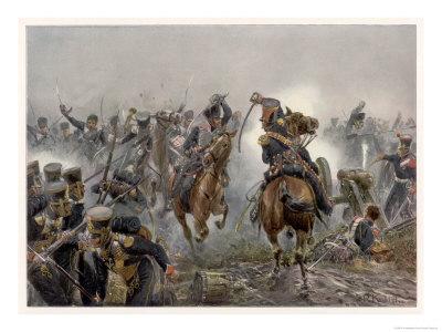 Battle of Leipzig the Brandenburg Hussars at Mockern Premium Giclee Print by R. Knotel